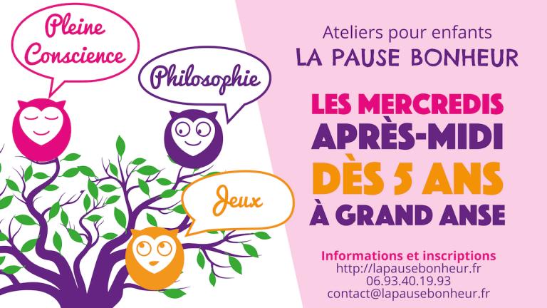 Read more about the article Ateliers enfants La Pause Bonheur – Ouverture des inscriptions 2017-2018
