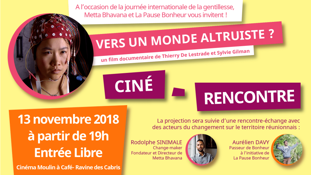 "Ciné – Rencontre : ""Vers un monde altruiste ?"" – Entrée Libre"